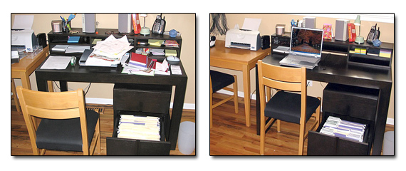 home office before and after organizing solutions