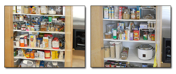 Pantry before and after a home organizer arrived!