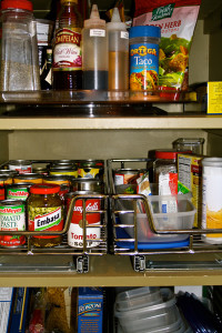 organizing solutions for inside of pantry