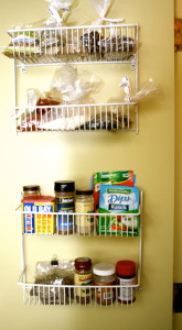 organizing solutions for panty wall