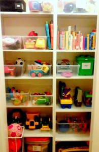 decluttered toyroom