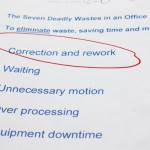 Deadly Waste #1: Correction and Rework