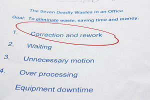 Example of 5s lean office deadly waste