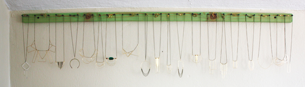Beautifully organized necklaces