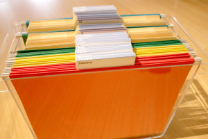 the tickler file organizing solution