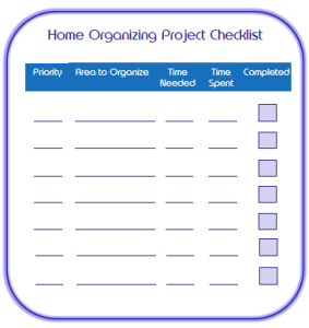 Home Organizing Project Checklist