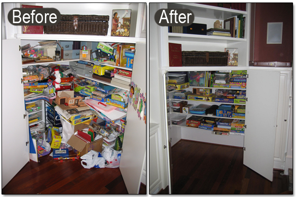 Household organization documented by the professionals""
