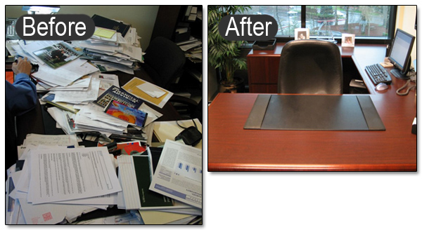 5S lean office before and after