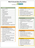 Downloadable PDF of how to organize your holiday donations