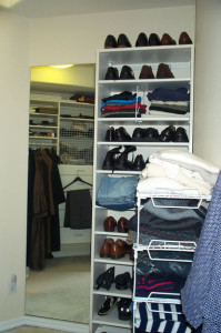 organized closet shelves