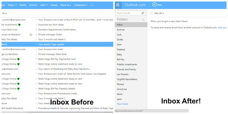 Organize your inbox to zero with Organizers Northwest!