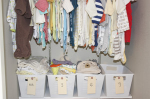 organize your baby's clothing storage!