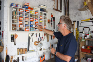 Loic in his organized tool studio
