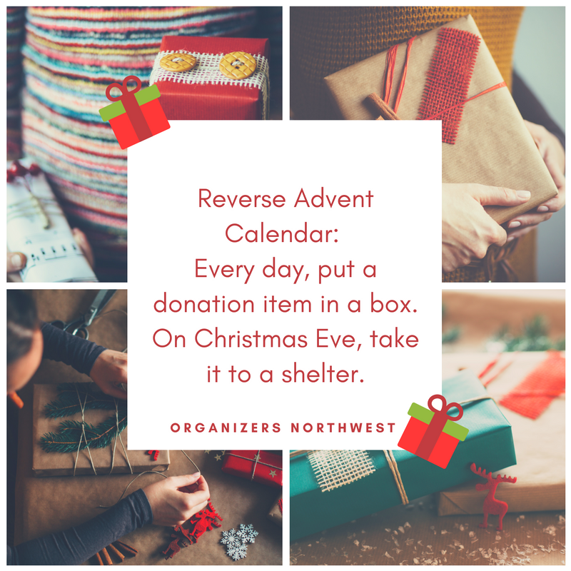 Teaching Kids about Giving: Reverse Advent Calendar by Veronica of Organizers Northwest!