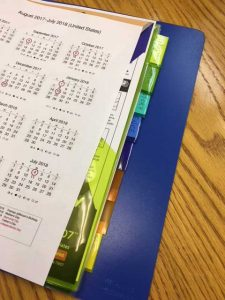 How to organize your student's binder