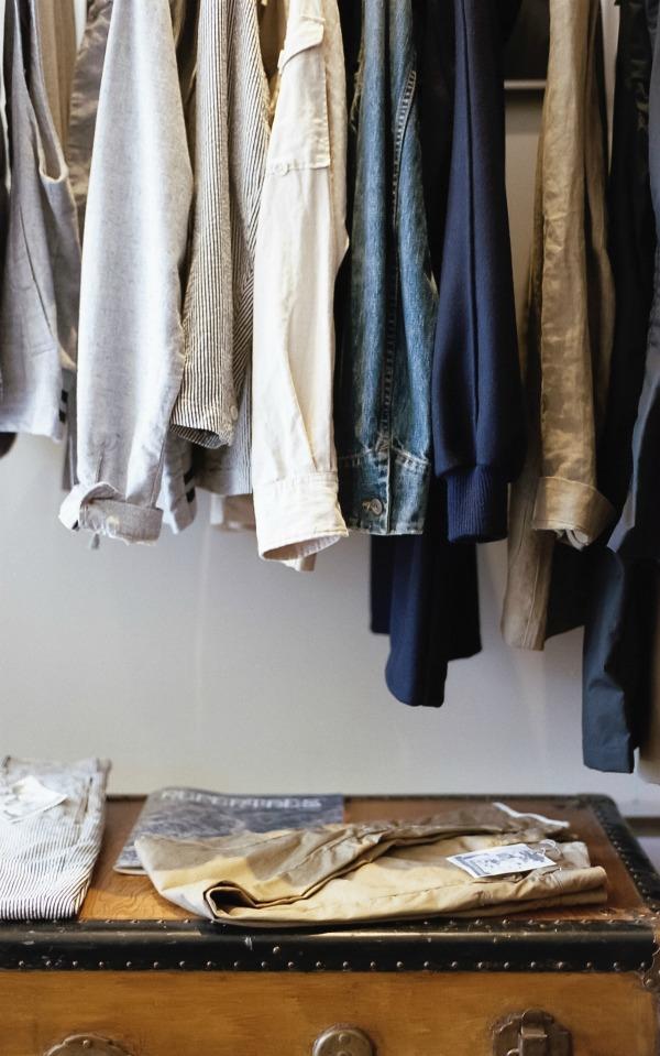 Keep shirts organized by hanging them