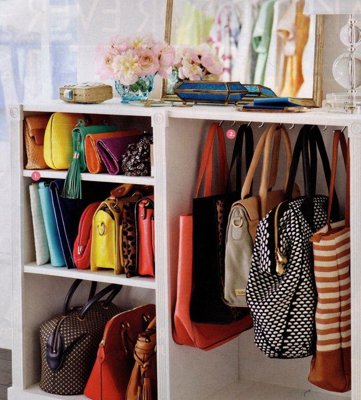 Purse hooks for organizing