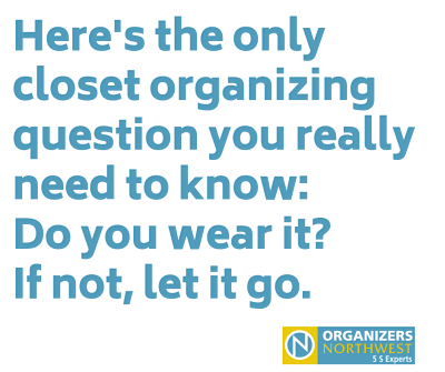 Closet Organizing Tip from Organizers Northwest