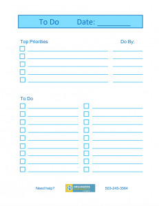 Blank To Do List