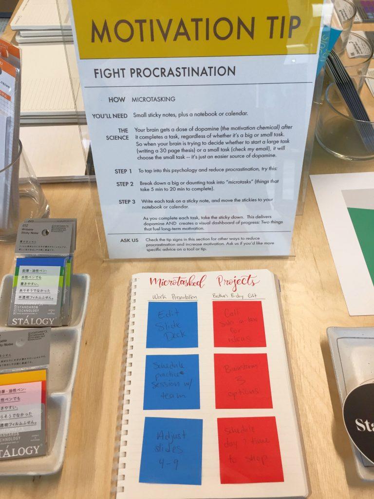 Motivation tip to fight procrastination
