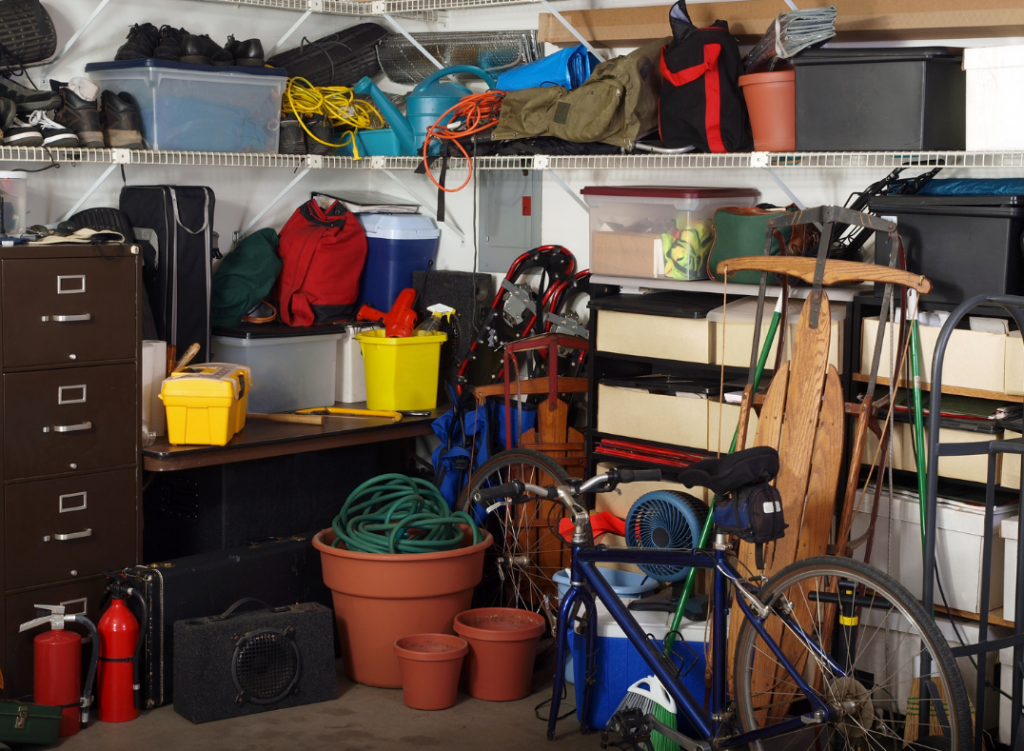 Hot spots like the garage are a great place to look for items to sell to Sella
